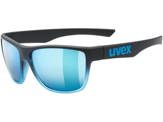 UVEX LGL 41 Glasses black blue/mirror blue